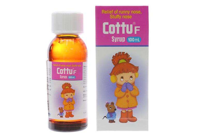 Siro Cottu F - Trị viêm mũi dị ứng cho trẻ em từ 3 tháng tuổi