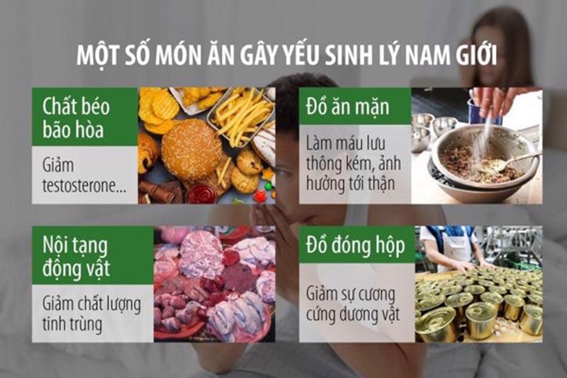 Chế độ dinh dưỡng mất cân bằng có thể là nguyên nhân tinh trùng yếu ở nam giới