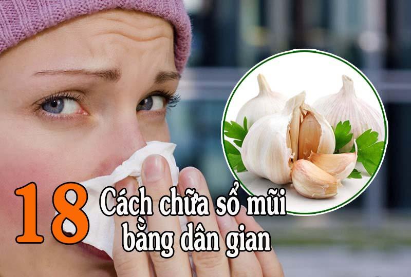 Cách trị sổ mũi bằng phương pháp dân gian phù hợp với những trường hợp bệnh nhẹ