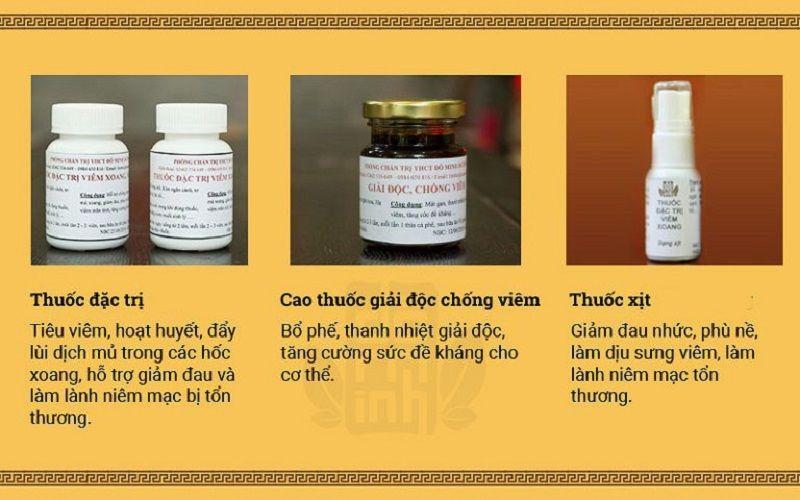 Bài thuốc được hoàn thiện với liệu trình gồm 3 loại