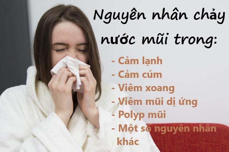 Có rất nhiều nguyên nhân gây ra tình trạng chảy nước mũi
