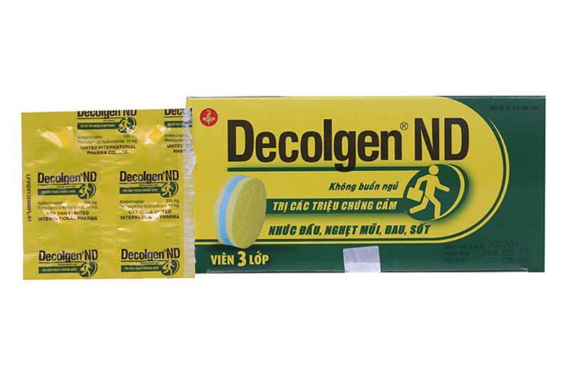 Thuốc Decolgen ND dùng để điều trị sổ mũi và các triệu chứng có liên quan