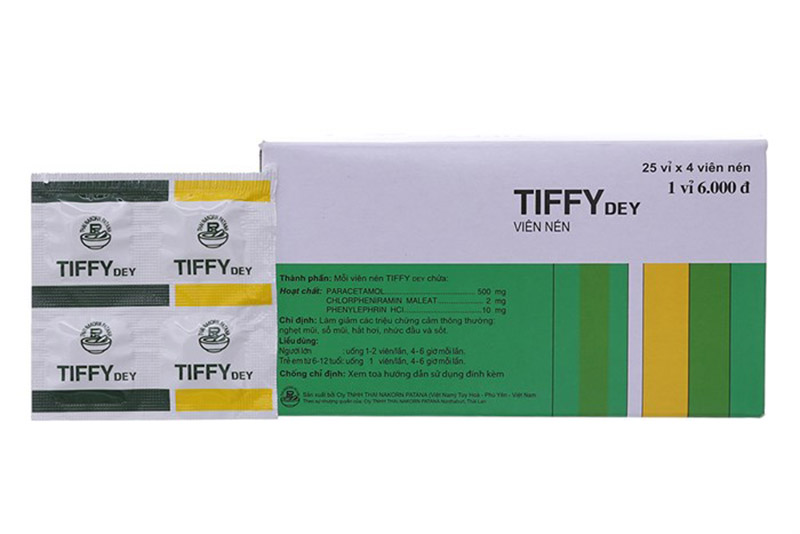 Thuốc Tiffy thường dùng cho người bị viêm mũi dị ứng hoặc cảm cúm