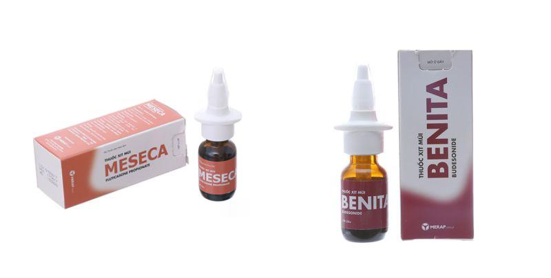 Thuốc xịt mũi Meseca và Benita