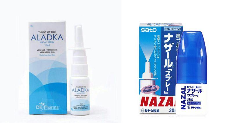 Thuốc xịt mũi Aladka và Nazal