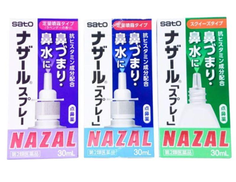 Thuốc xịt Nazal có nhiều  mùi hương để lựa chọn