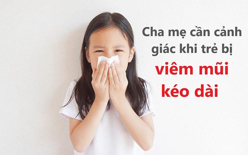 Cha mẹ không nên chủ quan khi trẻ bị viêm mũi kéo dài