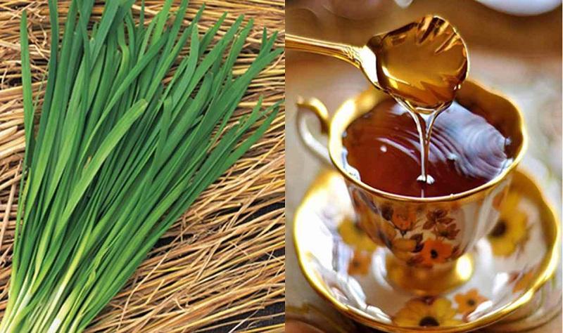 Lá hẹ kết hợp mật ong là bài thuốc dân gian trị sổ mũi hiệu quả