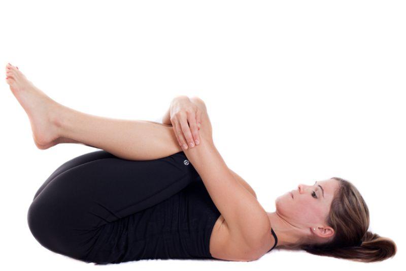 Bài tập Yoga chữa viêm mũi dị ứng - Pavanamuktasana