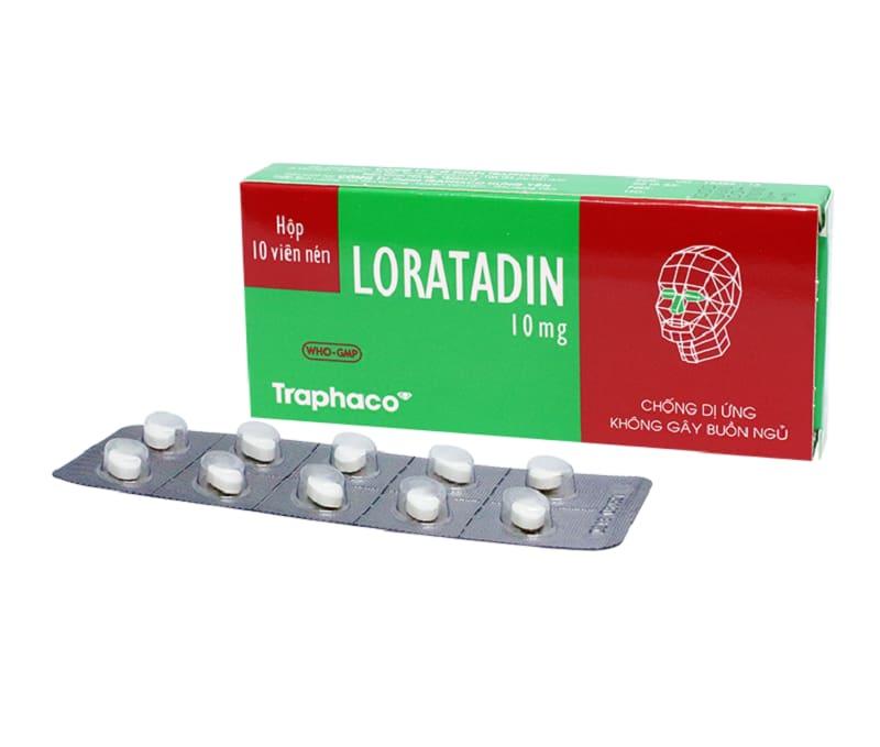 Thuốc Loratadin điều trị các triệu chứng của viêm mũi dị ứng như sổ mũi, hắt hơi,...