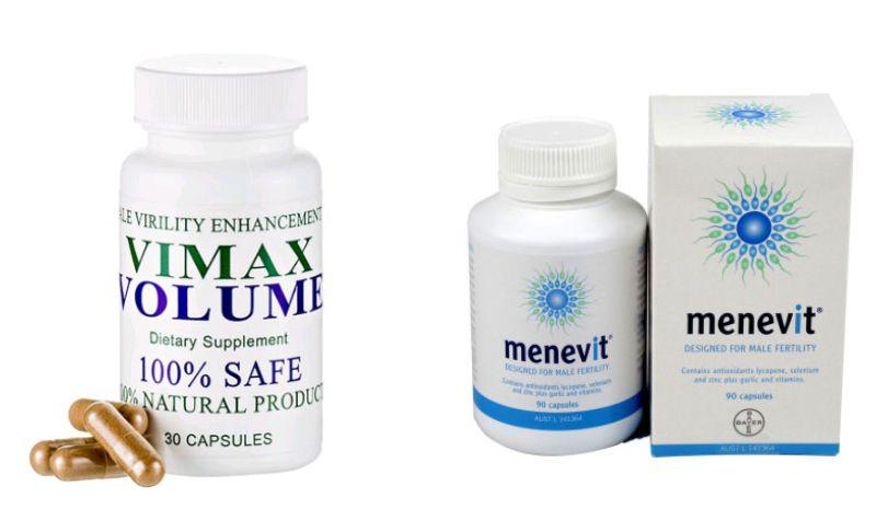 Thuốc Vimax Volume và Menevit, tinh trùng vón cục nên uống thuốc gì