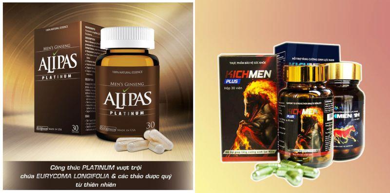 Sâm Alipas Platinum và Thuốc Kichmen Plus, tinh trùng vón cục uống thuốc gì