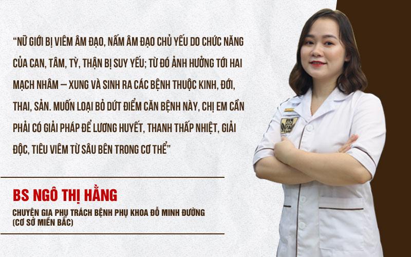 Lời tư vấn từ chuyên gia phụ khoa - BS Ngô Thị Hằng