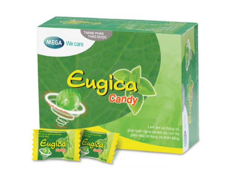 Viên ngậm chữa đau họng eugica chiết xuất thảo dược thiên nhiên