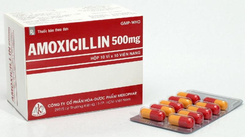 thuốc viêm họng amoxicillin