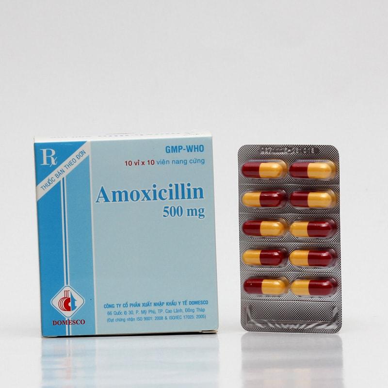 Thuốc kháng sinh điều trị viêm họng amoxicillin