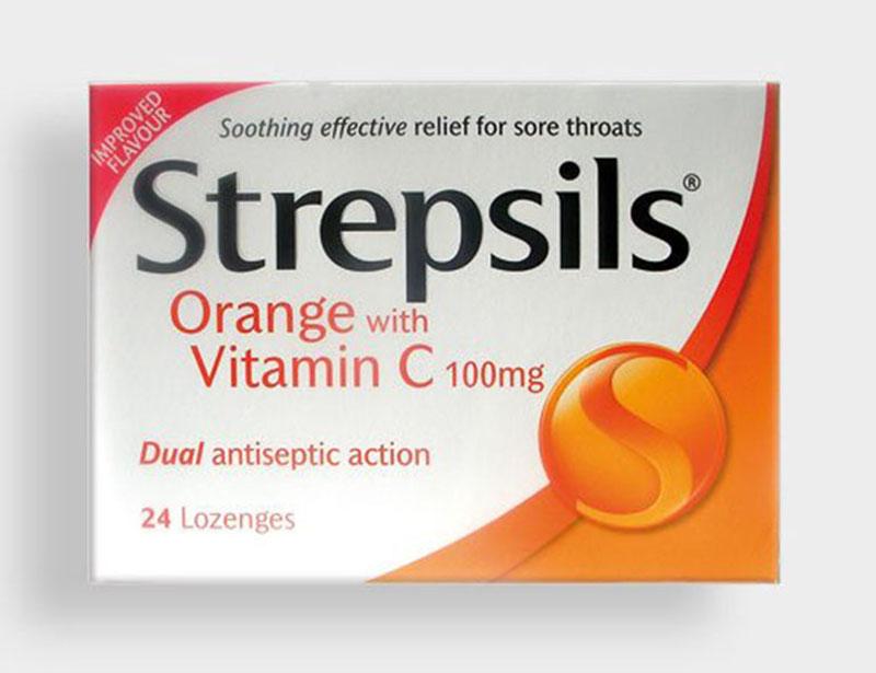 Viên ngậm đau họng Strepsill hỗ trợ điều trị viêm họng hiệu quả