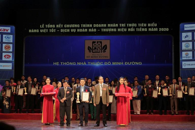 Nhà thuốc Đỗ Minh Đường nhận giải thưởng Top 20 thương hiệu nổi tiếng