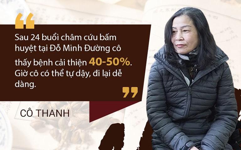 Chia sẻ của Cô Thanh về kết quả điều trị tại Đỗ Minh Đường