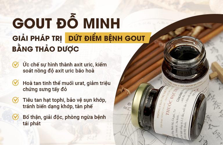 """Bài thuốc Gout Đỗ Minh, chìa khóa """"vàng"""" chữa trị bệnh gout hiệu quả"""
