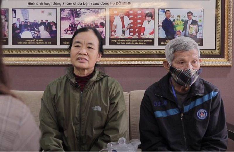 Vợ chồng cô Sình chữa viêm xoang tại nhà thuốc chúng tôi
