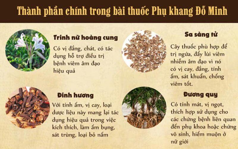 Những thảo dược hàng đầu có mặt trong bài thuốc Phụ Khang Đỗ Minh