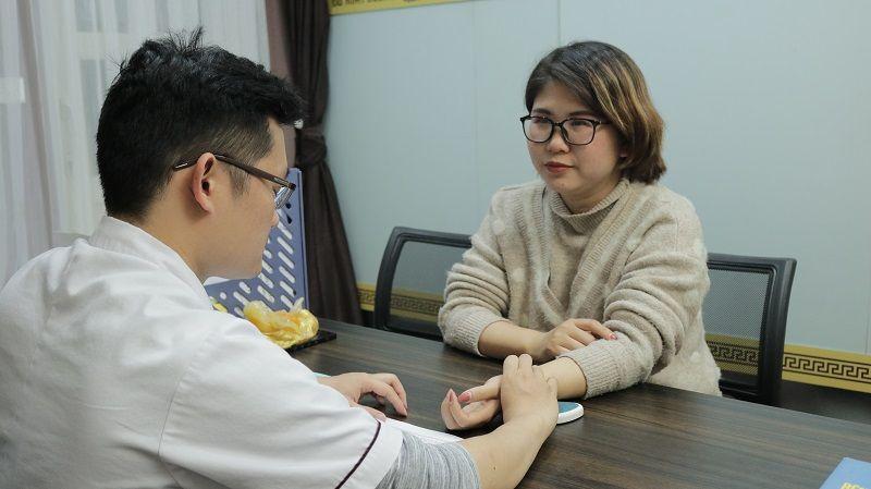 Mẹ bầu Thanh tái khám tại nhà thuốc Đỗ Minh Đường