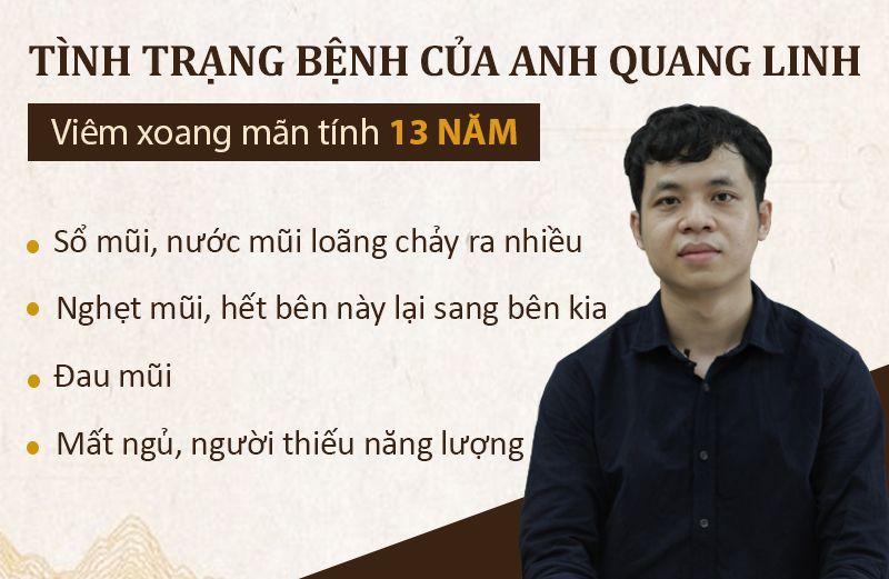 Tình trạng bệnh của anh Linh trước đây