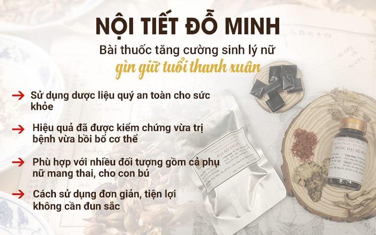 Ưu điểm bàn thuốc Nội tiết Đỗ Minh