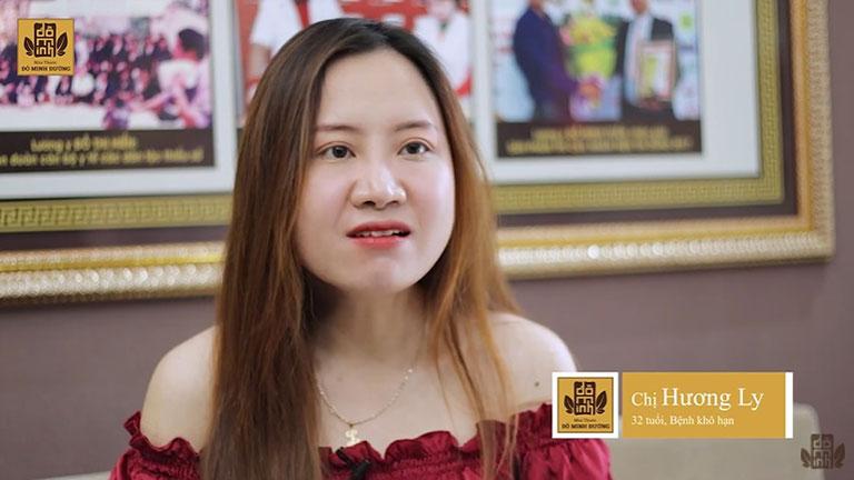 Chị Ly chia sẻ về tình trạng bệnh trong lần tái khám tại Đỗ Minh Đường
