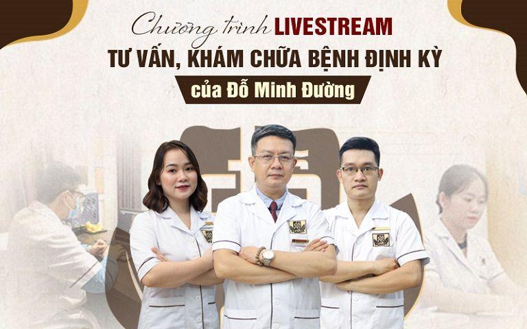 Nhà thuốc Đỗ Minh Đường livestream tư vấn sức khỏe ngay trong mùa dịch
