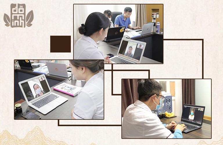 Các bác sĩ Đỗ Minh Đường đẩy bệnh việc thăm khám, tư vấn trực tuyến cho người dân cả nước