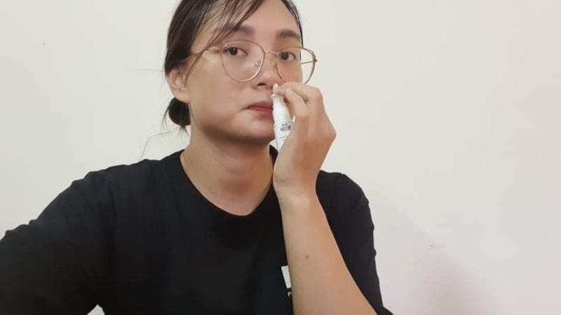 Hà Vân rất hài lòng về dạng thuốc xịt viêm xoang Đỗ Minh Đường