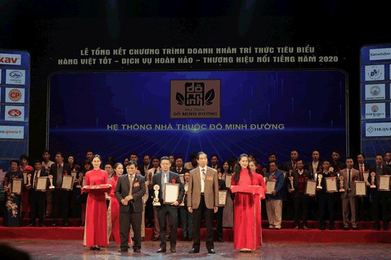 Nhà thuốc Đỗ Minh Đường vinh dự nhận nhiều giải thưởng danh giá trong suốt quá trình hình thành và phát triển